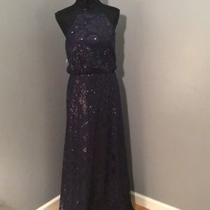 Sparkle navy gown